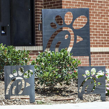 Exterior Corten Steel Sign Small Stealth Industry