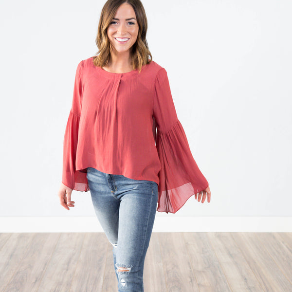 Raye Bell Sleeve Top
