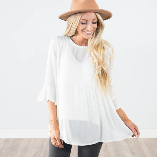Madalynn Top in Ivory