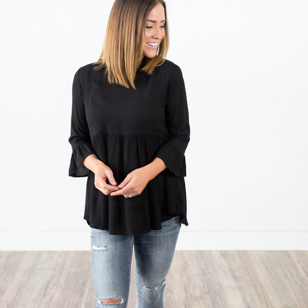 Madalynn Top in Black (Plus)