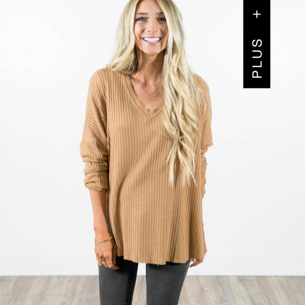 Chrissy Sweater in Almon Plus Size