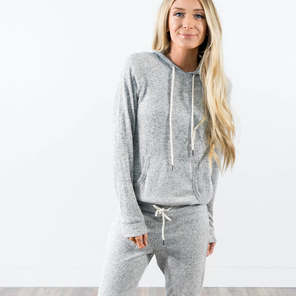 Jogger Set in Heather Grey Hoodie