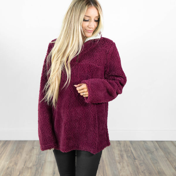 Ari Pullover Jacket in Plum