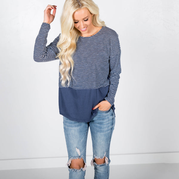Caden Stripe Top