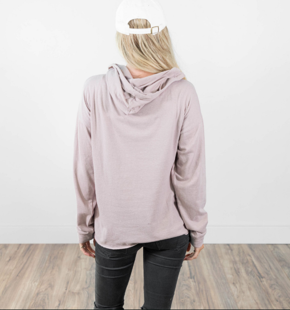 Lillian Hoodie in Dusty Pink