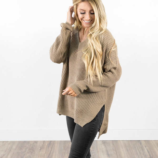 Oversized Sweater in Khaki