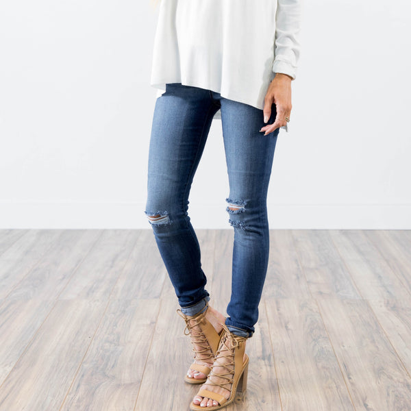 Dark Wash Kate Destroyed Denim