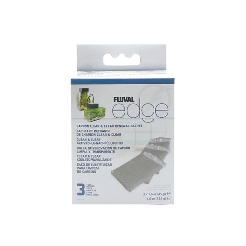 Fluval Edge Carbon Clean and Clear Replacement Sachet 3 pack