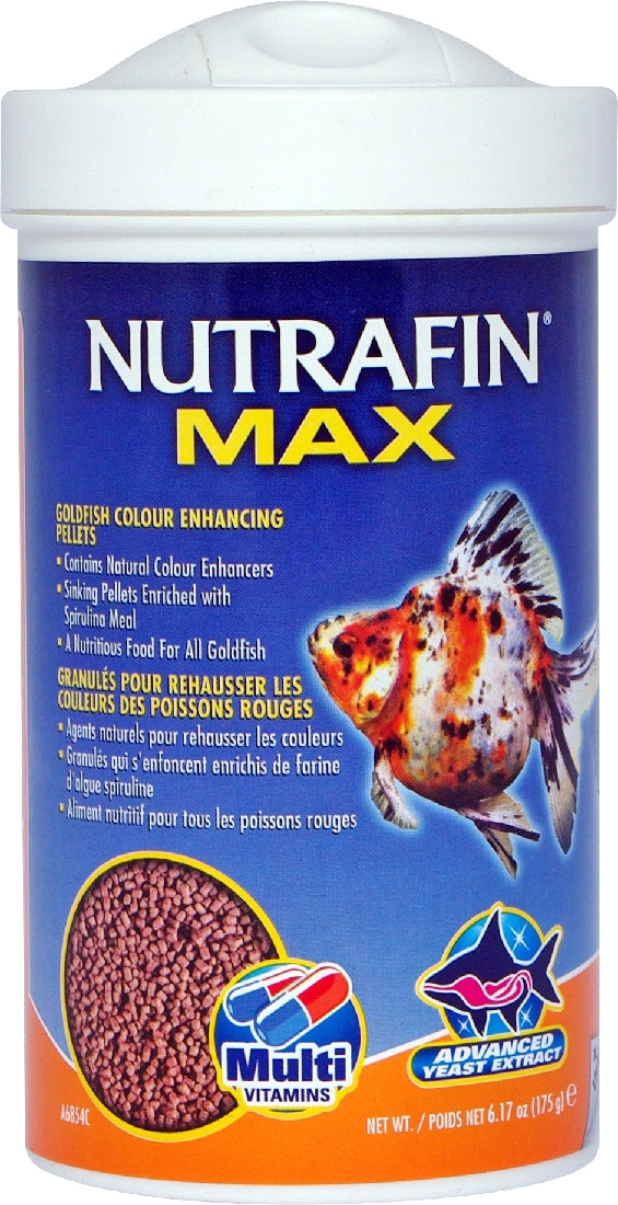 Nutrafin Max Goldfish Sinking Colour Pellet 175G