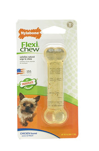 Nylabone FlexiChew Chicken Bone on Card - Petite