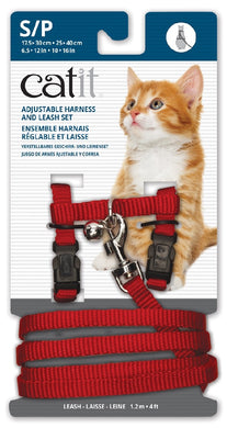 Catit Harness And Lead Red Small