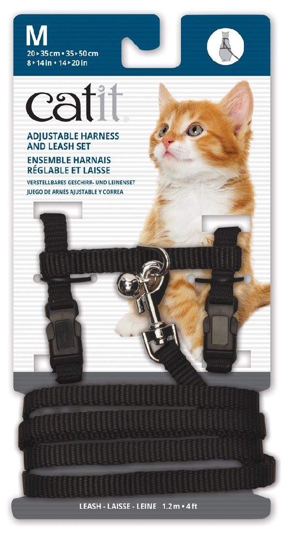 Cat It Harness and Lead Black Medium