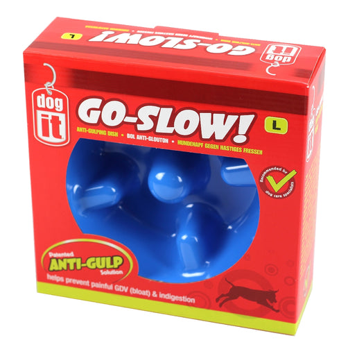 Anti Gulping Bowl Blue 1200ml