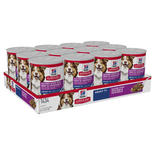 Pack of 12 Science Diet Dog Mature Savoury Beef Stew 363G can
