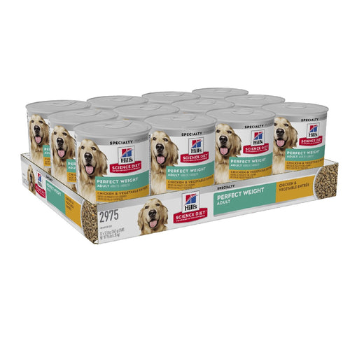 Pack of 12 Science Diet Dog Perfect Weight Can 363g