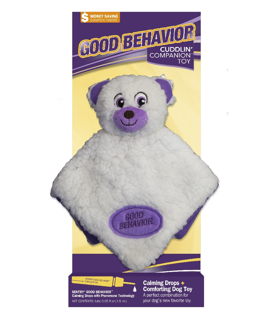 Sentry Good Behaviour Calming Snoozy Bear Plush Toy We Know Pets