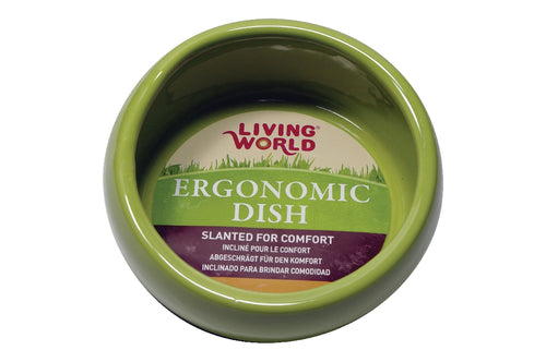 Living World Ergonomic Ceramic dish green