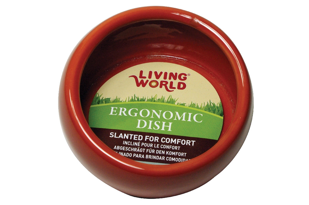 Living World Ergonomic ceramic dish large Terracotta