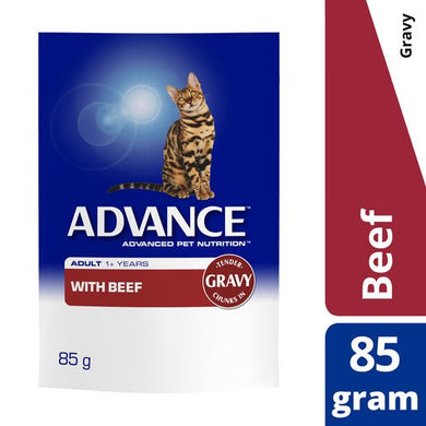 Advance Cat Adult Beef & Gravy Pouch 85g