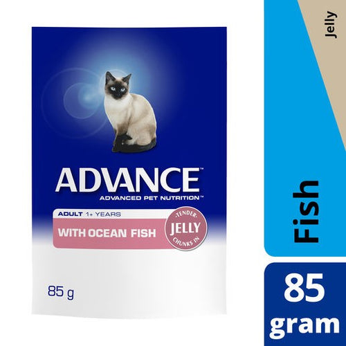 Advance Cat Adult Oceanfish Jelly Pouch 85g
