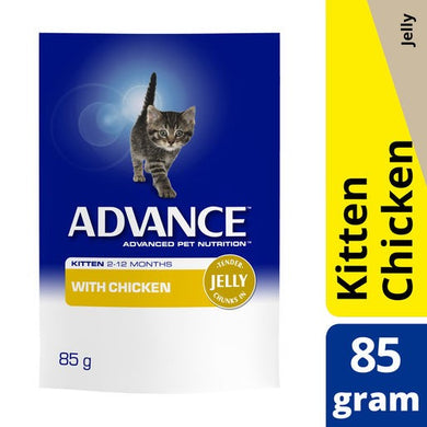 Advance Cat Kitten Chicken Jelly Pouch 85g