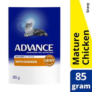 Advance Cat Mature Chicken & Gravy Pouch 85g