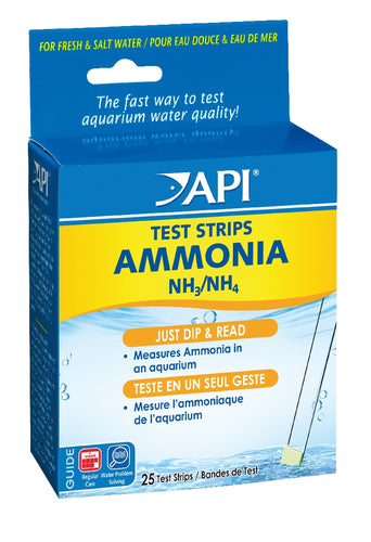 API Ammonia Test Strips 25 pack