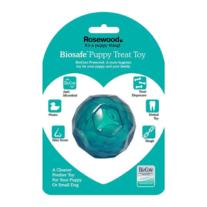 BioSafe Puppy Treat Ball Blue