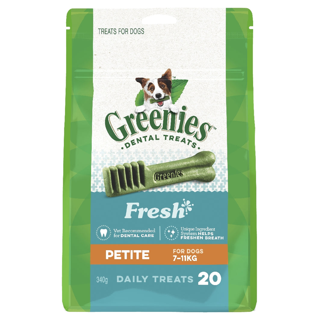 Greenies Mint Treat Pack Petite 20 pack 340g