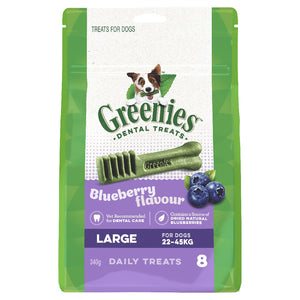 Greenies Blueberry Treat Pack Large 340g