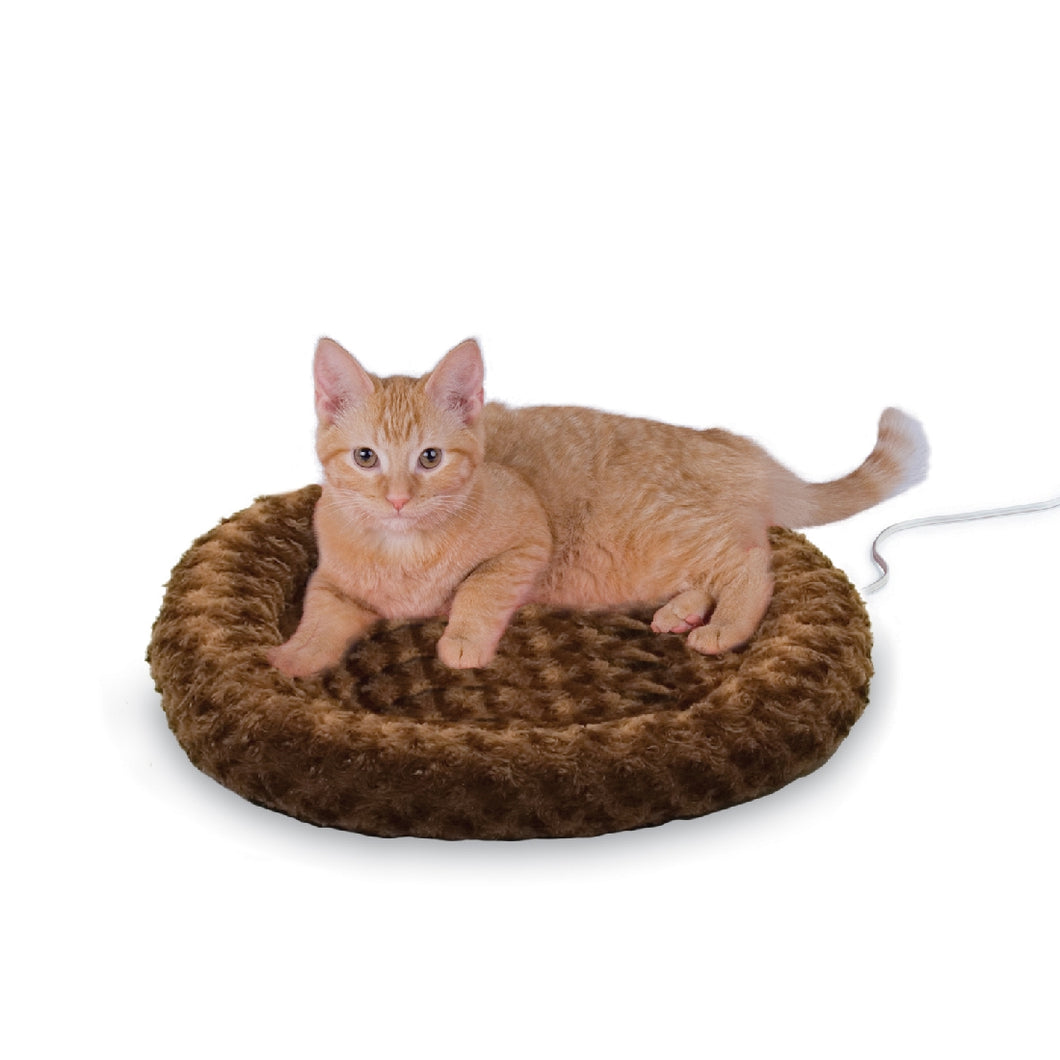 K & H Thermo Kitty Heated Bed Fashion Mocha 45cm 4w