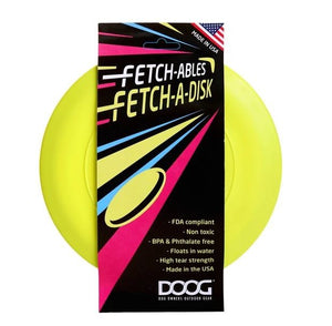 DOOG Fetchables Fetch-a-Disc - Yellow
