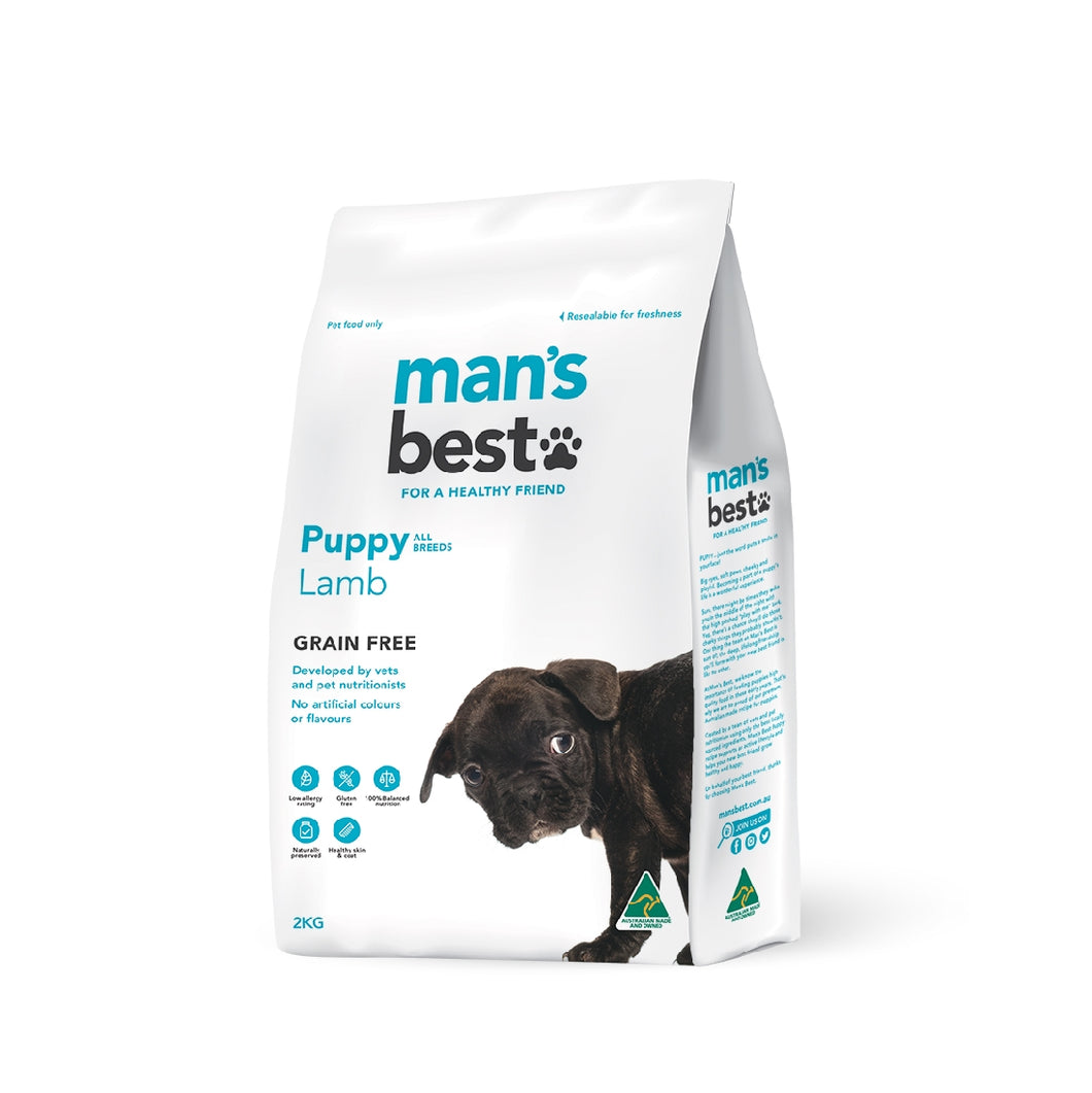 Man's Best Premium Puppy Lamb Grain Free 2kg