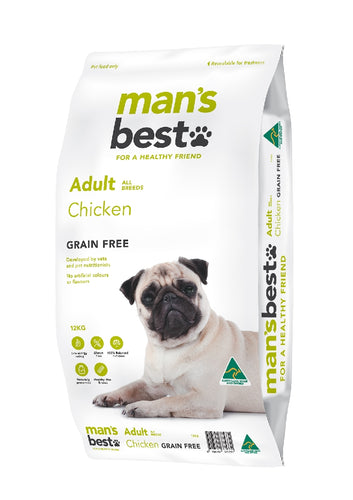 Man's Best Premium Adult Chicken Grain Free 12kg