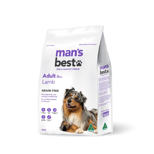 Man's Best Premium Adult Lamb Grain Free 2kg