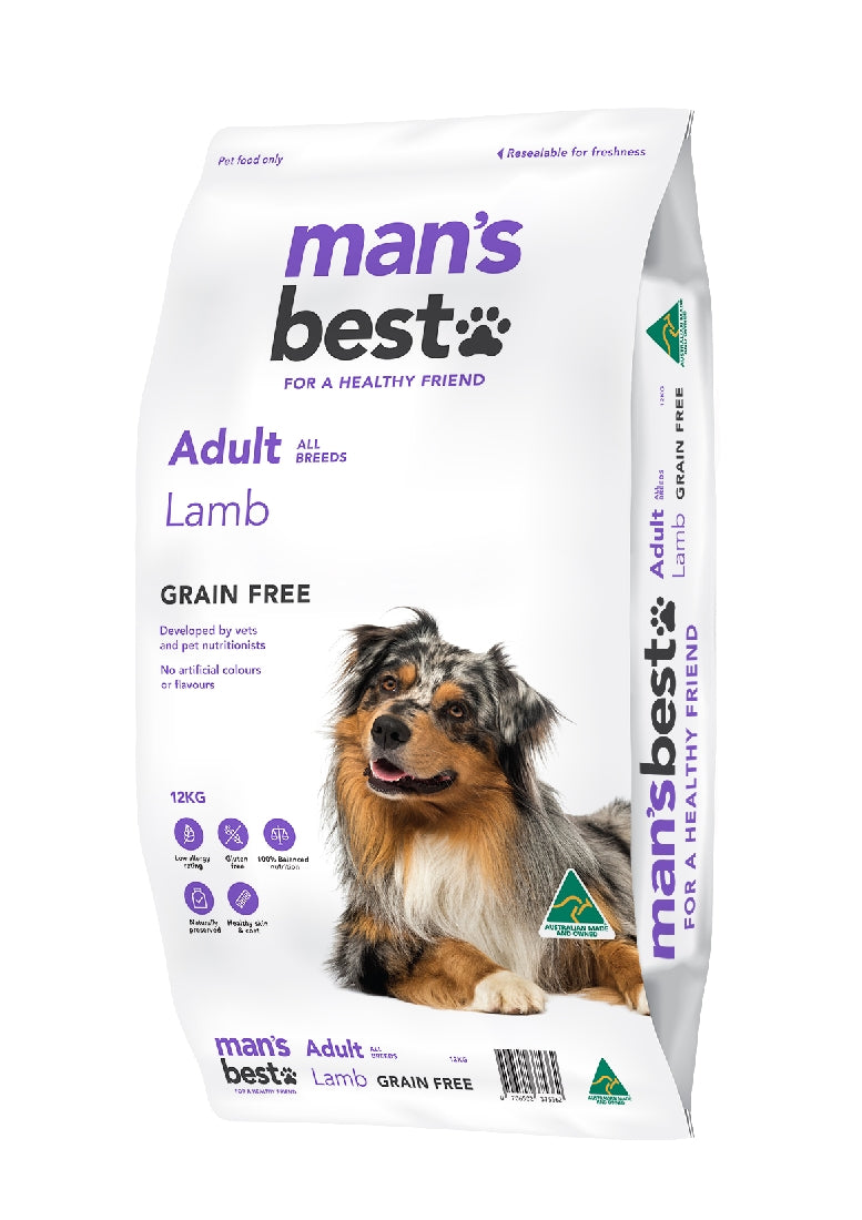 Man's Best Premium Adult Lamb Grain Free 12kg