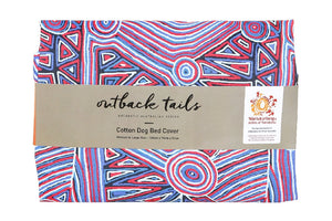 Outback Tails Bed Cover - Digging For Truffles (Blue & Red)