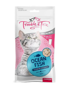 Trouble & Trix Cat Treat Ocean Fish 70g