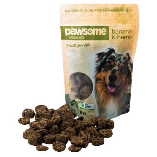 Australian Banana and Hemp Certified Organic Dog Treats 250g