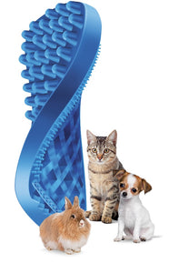 Pet + Me Blue Brush – Soft Blue Sillicone