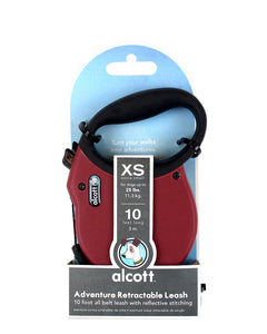 Alcott Adventure retractable leash 3m Red Xtra Small
