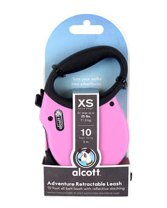 Alcott Adventure retractable leash 3m Pink Xtra Small