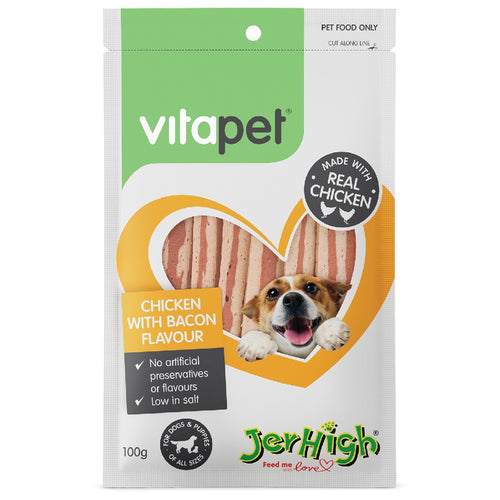 Vitapet Jerhigh Chicken & Bacon 100G