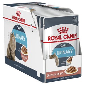 Pack of 12 Royal Canin Feline Urinary Gravy 85g Pouch