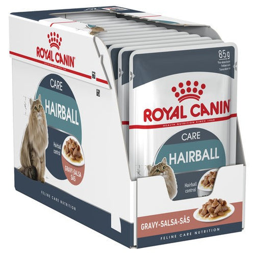 Pack of 12 Royal Canin Cat Hairball 85g Pouch