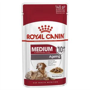 Pack of 10 Royal Canin Dog Medium Ageing 10+ 140g Pouch