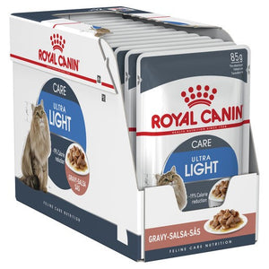 Pack of 12 Royal Canin Cat Light 85g Pouch