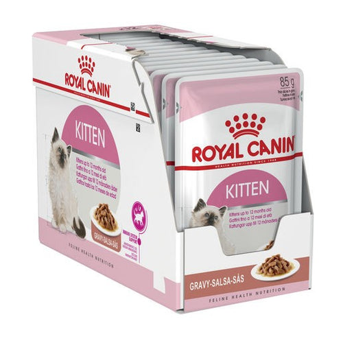 Pack of 12 Royal Canin Cat Kitten Gravy 85g Pouch