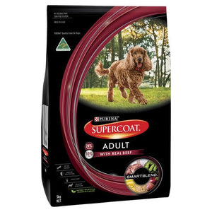 Supercoat Dog Adult Beef 3kg