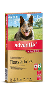 Advantix Dog Red 10kg - 25kg